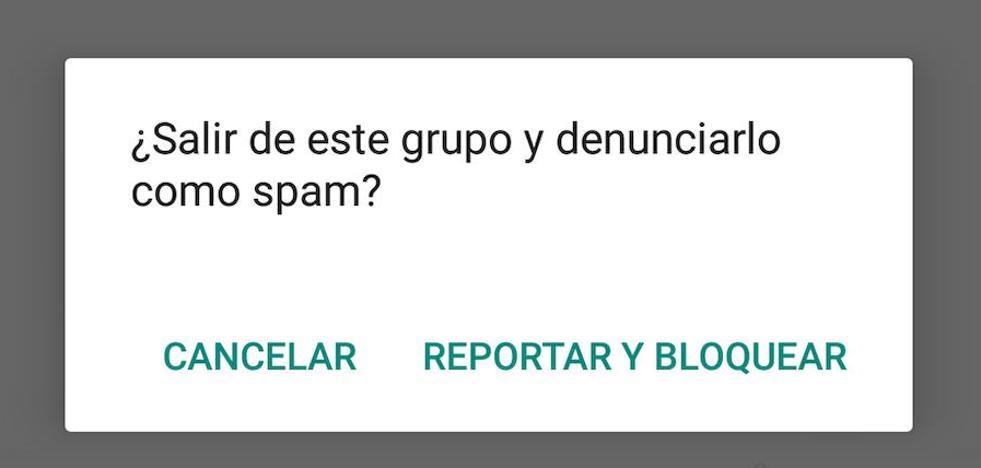 ¿Cómo denunciar a un usuario o grupo por spam en Whatsapp?
