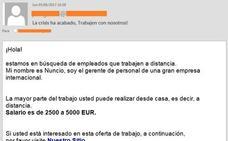 Ojo con la nueva campaña de falsas ofertas de trabajo con salarios de 5.000 euros