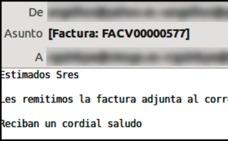 Vuelven las facturas infectadas con malware que llegan por correo electrónico