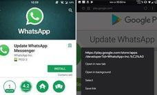 Cuidado con la versión falsa de Whatsapp que se ha colado en la Play Store
