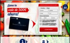 Cuidado con los falsos cupones de 500 euros que llegan al correo electrónico