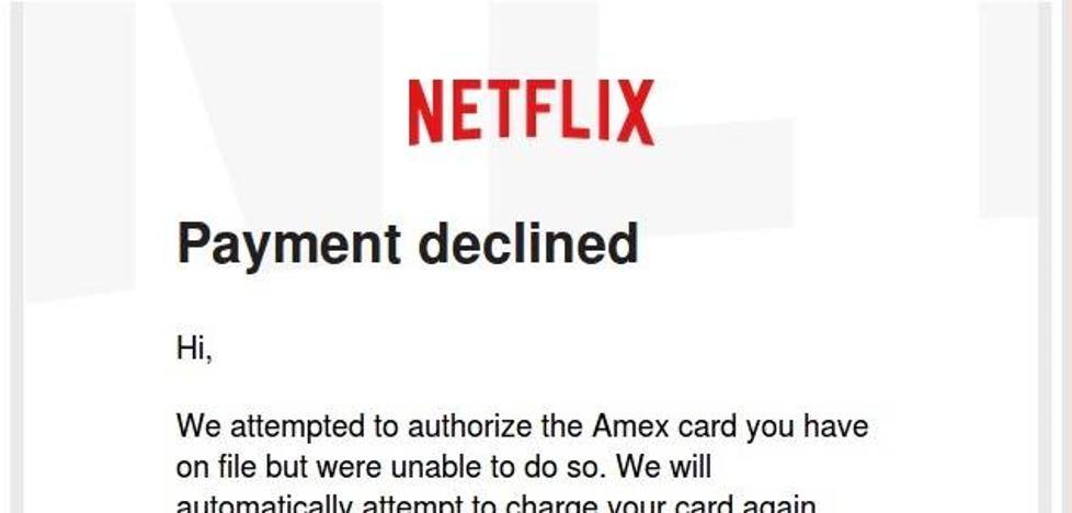 Cuidado con los e-mails fraudulentos que suplantan a Netflix