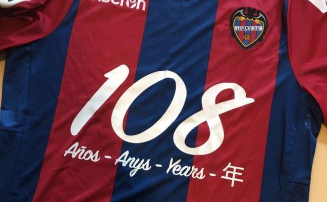 El Levante UD celebra el 108 aniversario del club con una camiseta especial