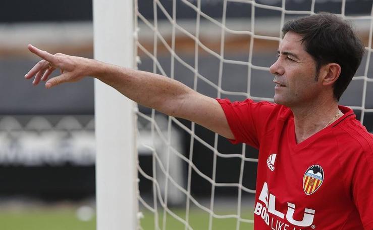 Fotos del primer entrenamiento de Marcelino