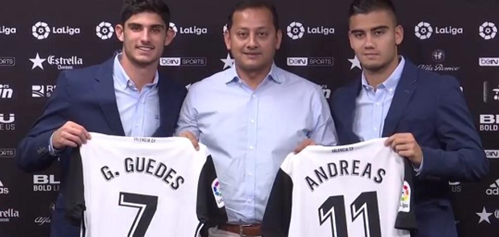 Gonçalo Guedes y Andreas Pereira, encantados en el Valencia