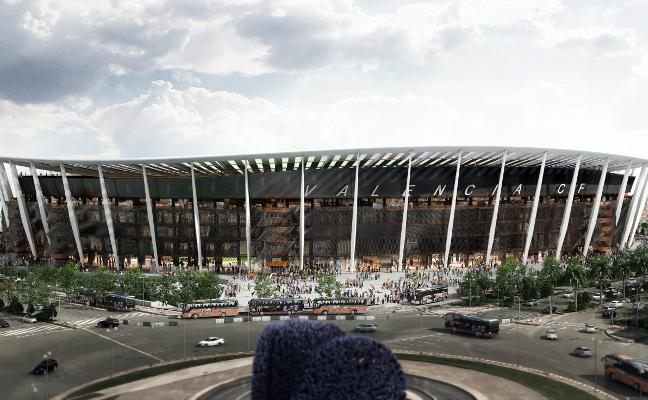 La alternativa de tapar con lonas 10.000 butacas del nuevo Mestalla
