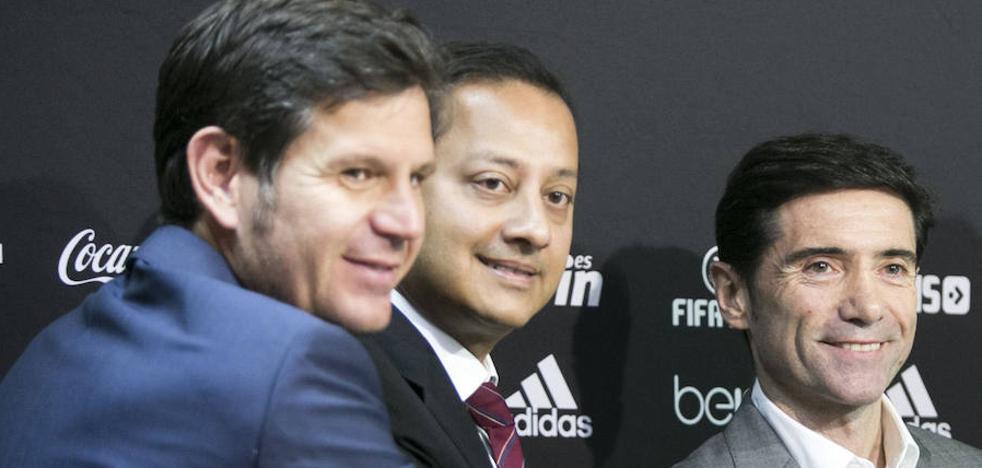Valencia CF | Murthy, Alemany y Marcelino, reunión a pie de campo