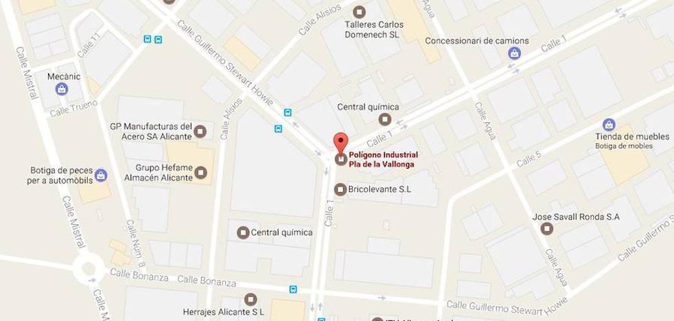 Herido un trabajador de 40 años tras alcanzarle una bombona de aire comprimido que ha explotado en Alicante