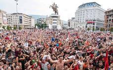 Skopje recibe a España con calor y pasión por el balonmano