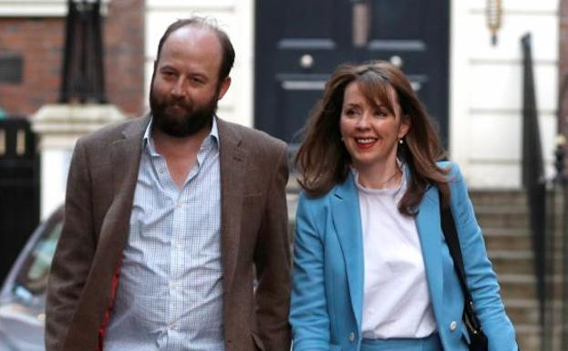 Nick Timothy y Fiona Hill.