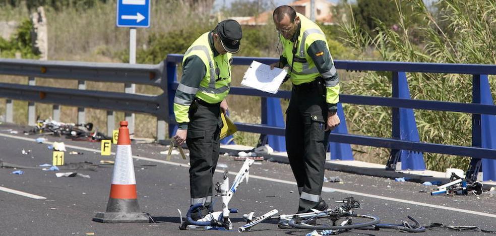 Los ciclistas víctimas de accidentes en la Comunitat Valenciana se triplican en sólo una década