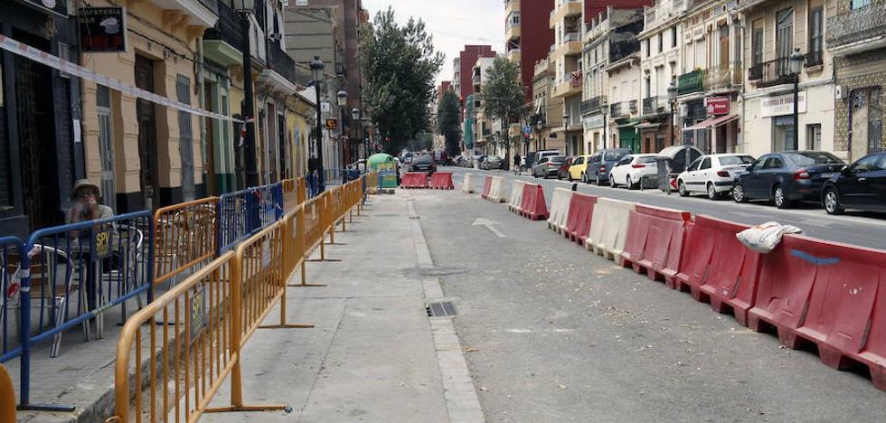 Las obras de Valencia acabadas caen a la mitad que el pasado año