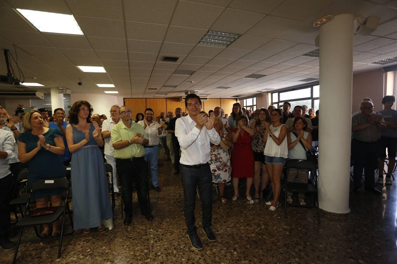 Fotos del alcalde de Burjassot, Rafael García, presentando su candidatura a secretario general del PSPV-PSOE