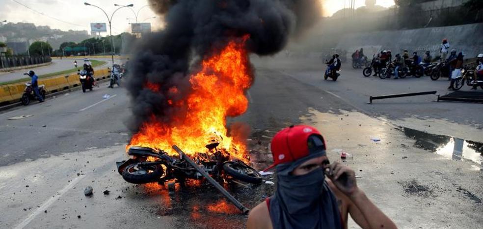 Muere un joven durante una manifestación opositora en Caracas