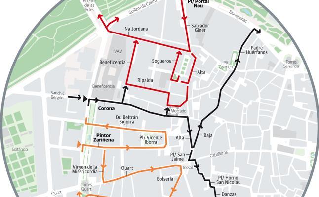 La prohibición de circular en coche se extiende a otros tres barrios del centro de Valencia