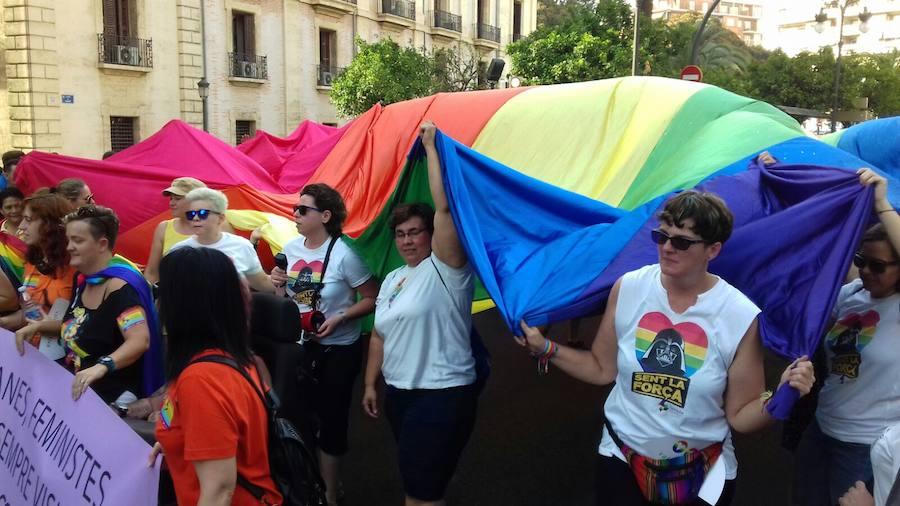 Fotos de la cabalgata del Orgullo LGTBI en Valencia 2017