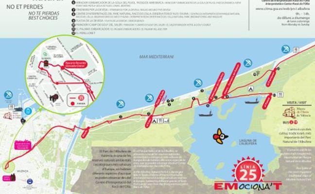 Disfruta de las playas de Valencia con la línea 25 de la EMT