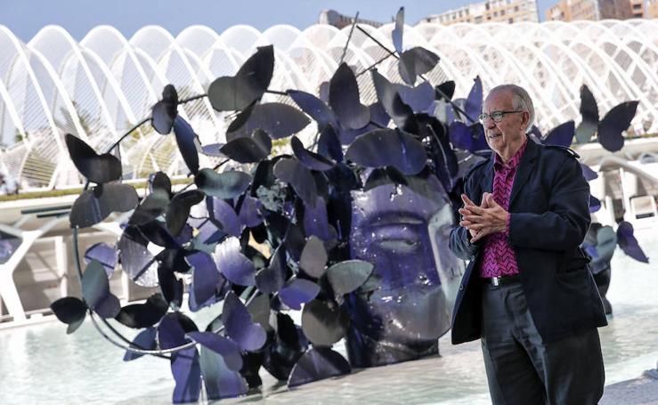 Fotos de la presentación de las obras monumentales de Manolo Valdés en la Ciudad de las Artes y las Ciencias