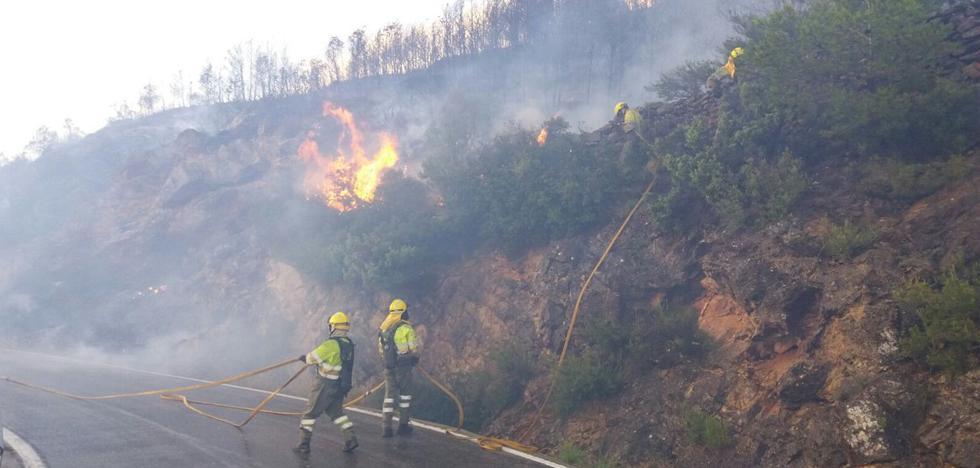 230 personas y 13 aviones trabajan para apagar el incendio de la Calderona en Gátova y Segorbe