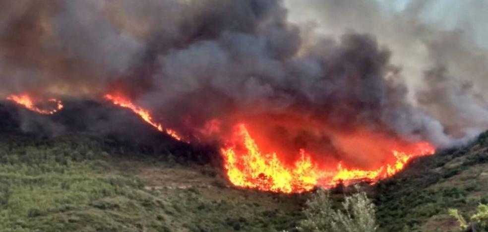 El incendio de la Calderona fue provocado por un rayo y sigue sin control tras arrasar más de 350 hectáreas