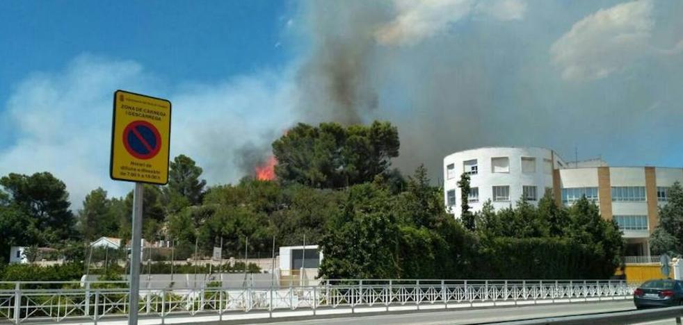 Un incendio cercano a una urbanización de Real de Gandia obliga a desalojar varias viviendas