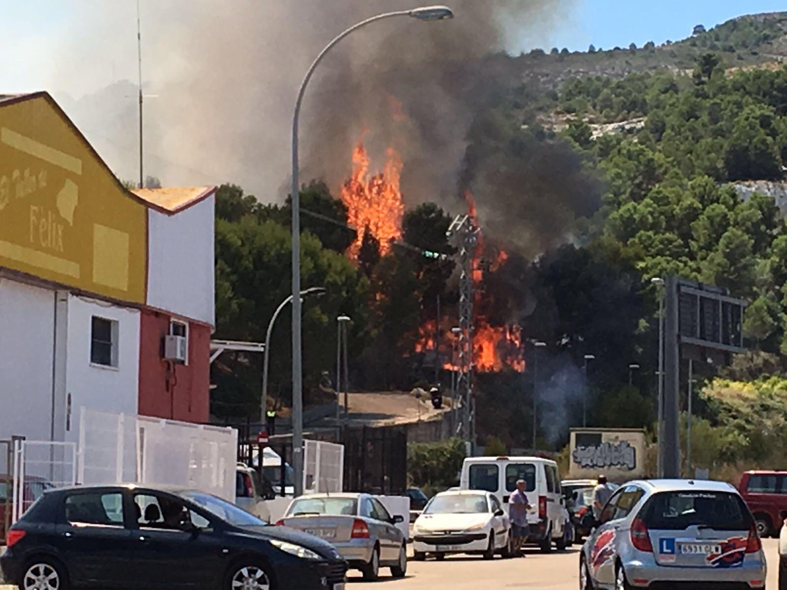 Fotos del incendio en Real de Gandía