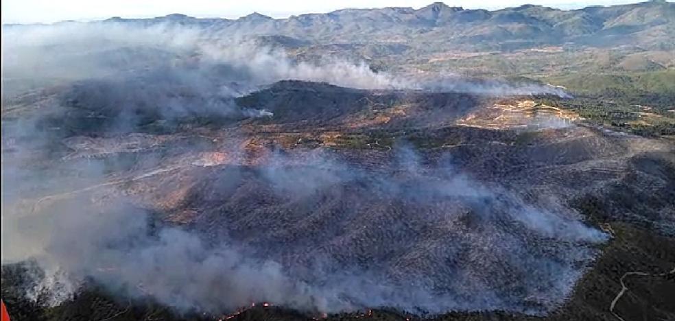 Así se ve desde el cielo el perímetro del incendio en la Calderona