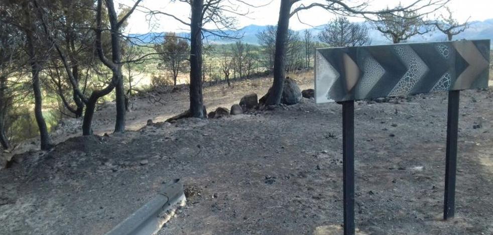 Las consecuencias del incendio en la Calderona: así ha quedado el monte