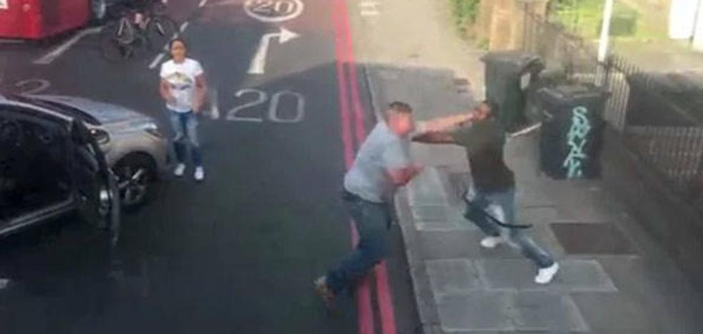 Una discusión vial acaba en una violenta pelea en Londres