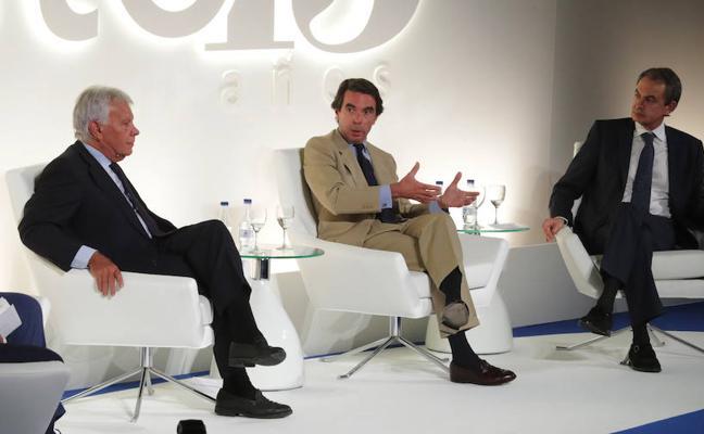 González, Aznar y Zapatero cierran filas contra el desafío independentista catalán