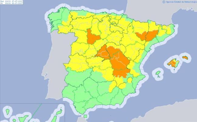 Alerta amarilla por riesgo de tormentas en Valencia y Castellón