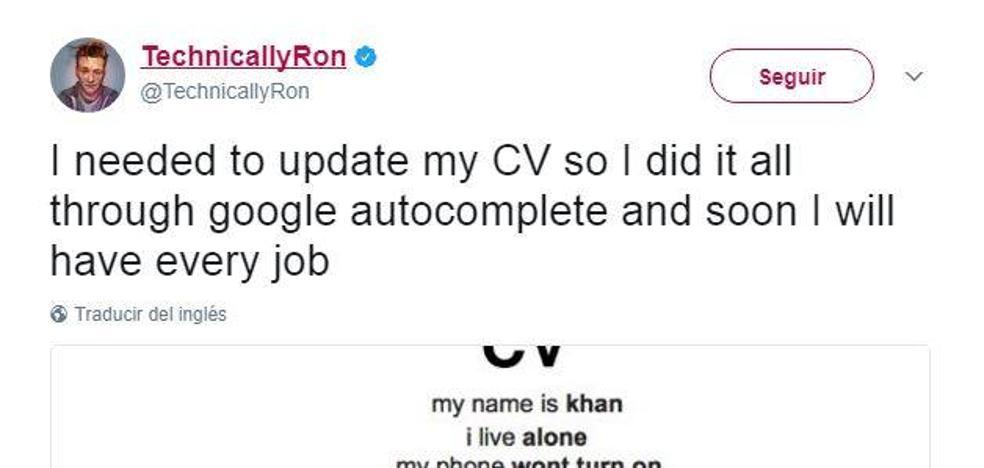 Rellena su CV con la función auto-completar de Google y arrasa en la red