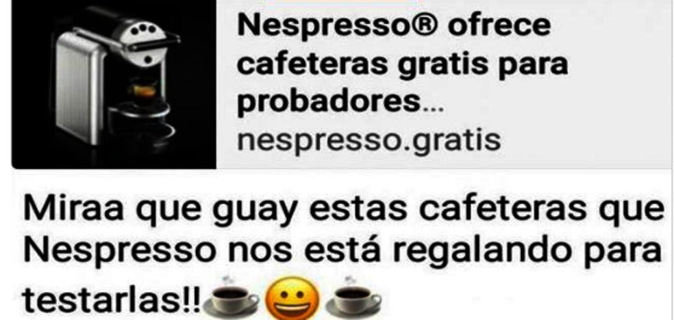 El timo de las cafeteras: la nueva estafa que circula por Whatsapp