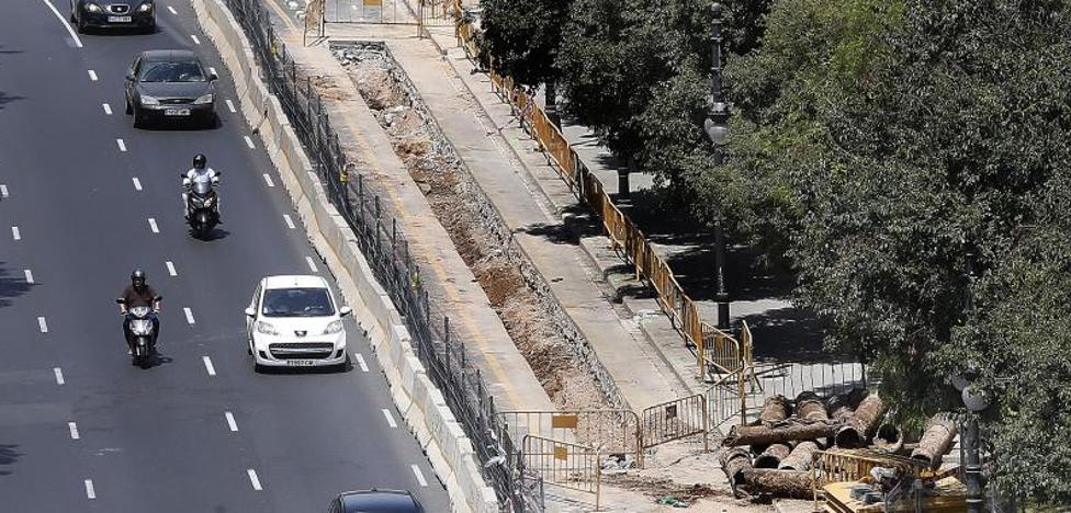 El carril bici entre Blanquerías y Serranos, con obras a los cuatro meses de inaugurarse