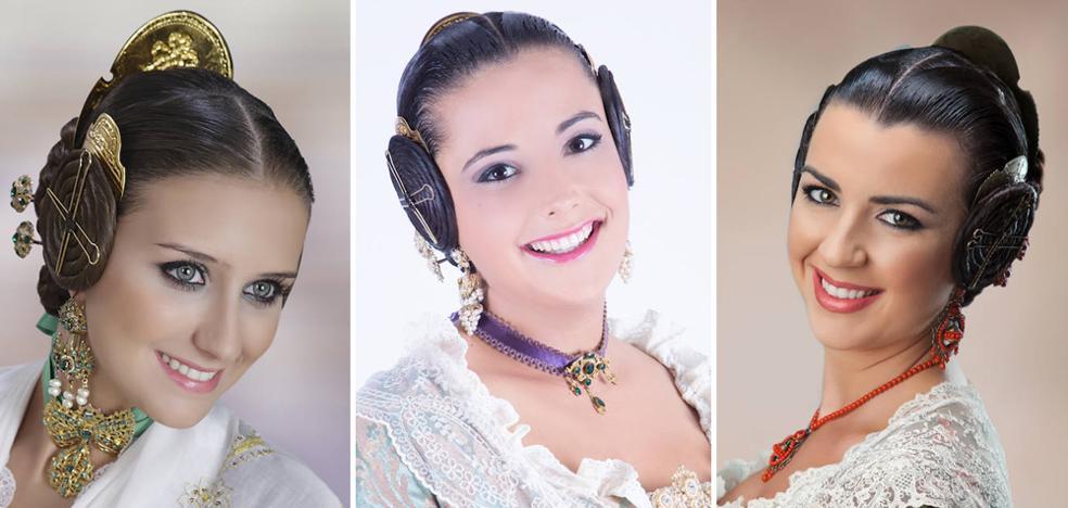 Falleras preseleccionadas para la corte de honor de 2018 en Olivereta y Pla del Remei-Gran Vía