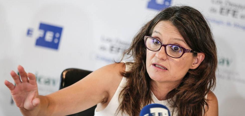 Mónica Oltra opina que para arreglar el problema catalán hay que «volver al origen»