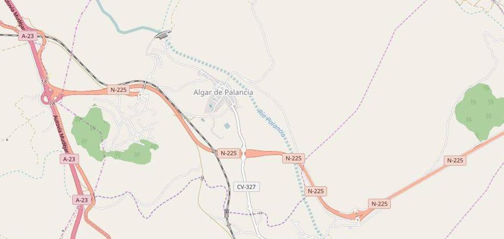 Siete heridos en un choque entre dos coches en Algar del Palancia