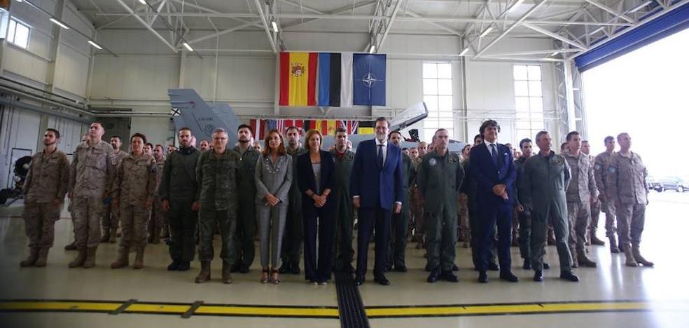 Rajoy defiende la presencia militar española en el Báltico por la amenaza rusa