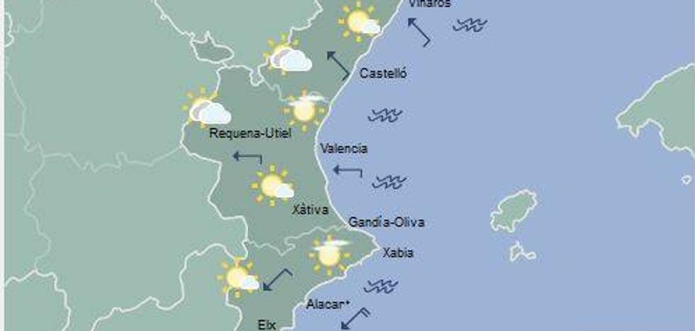 El tiempo en Valencia, Castellón y Alicante: Mañana podría llover en el interior norte
