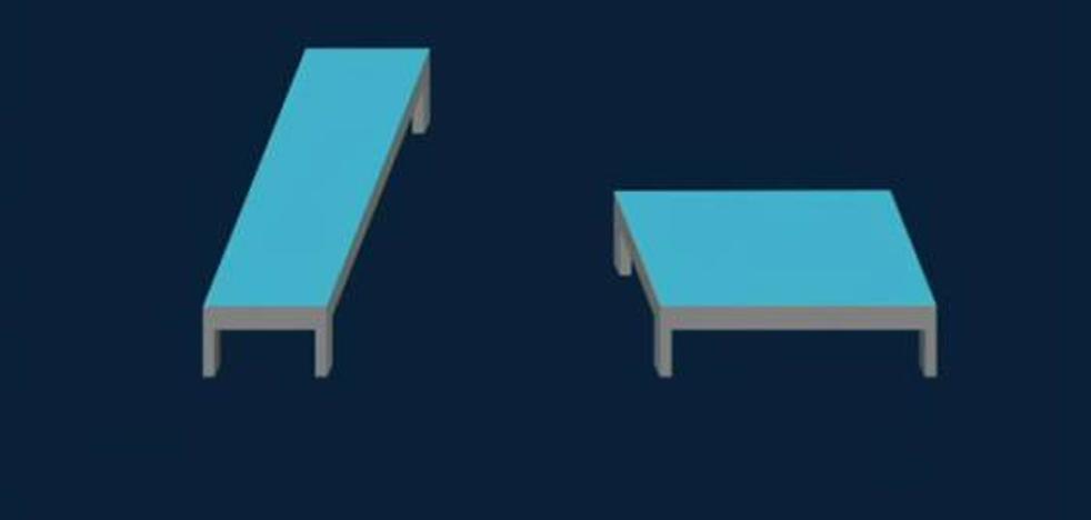 ¿Qué mesa es más larga? ¿y más ancha?