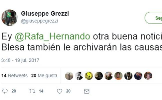 El concejal Giuseppe Grezzi hace chistes de la muerte de Miguel Blesa