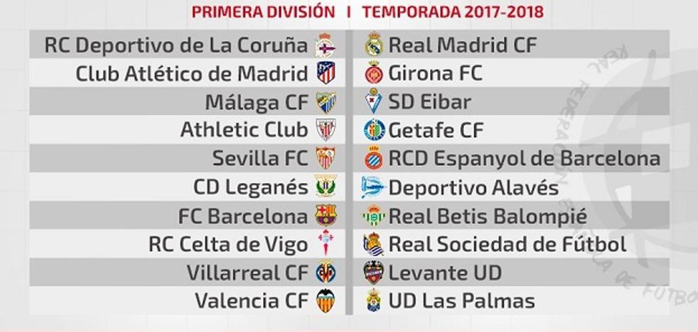 PDF   Consulta el calendario de la temporada 2017/2018 de La Liga