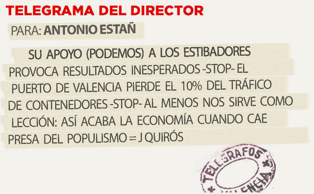 Telegrama para Antonio Estañ
