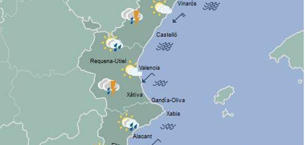 El tiempo en Valencia, Alicante y Castellón: Fin de semana con posibles lluvias en el interior