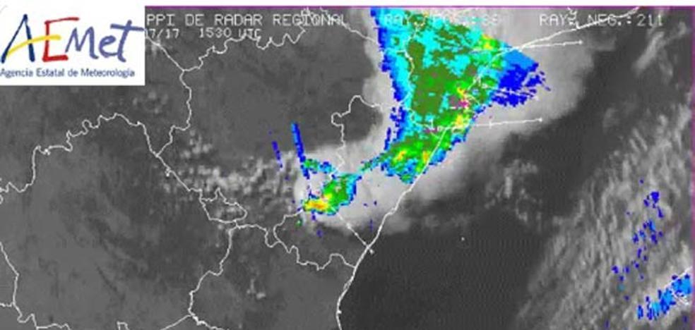 Varias tormentas de granizo barren Castellón del interior a la costa