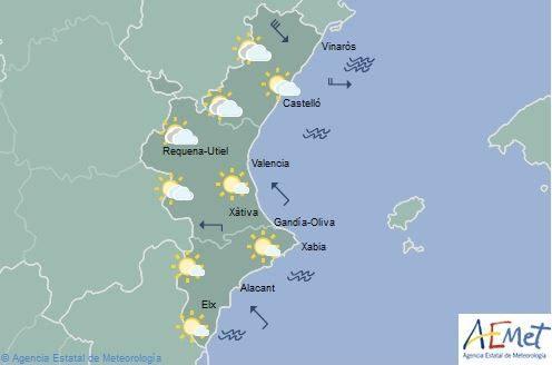 El tiempo en Valencia, Alicante y Castellón | Mañana habrá descenso de temperaturas en el norte y ascenso local en el sur de la Comunitat