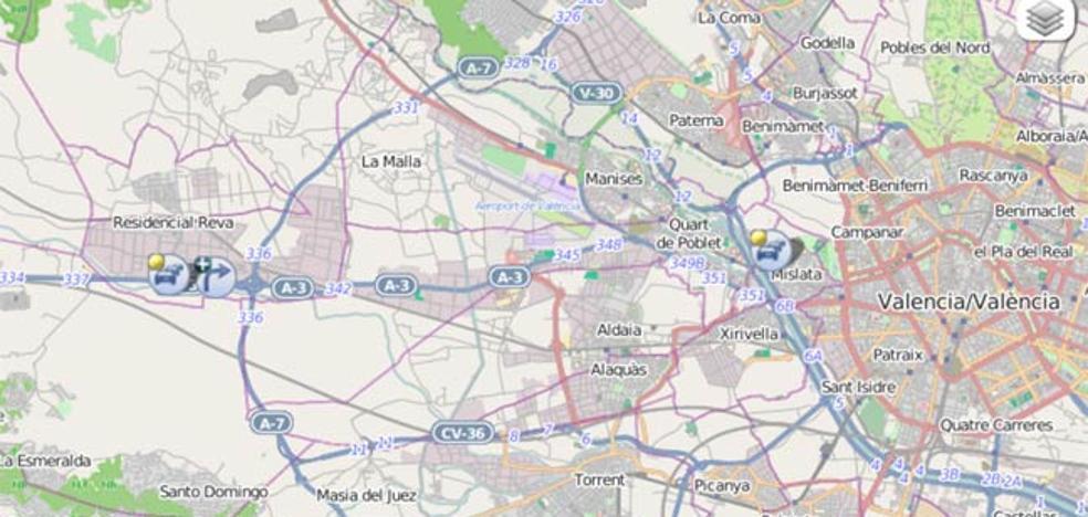 Retenciones de 4 km en la conexión de la A-3 y la A-7 en el inicio de la Operación Agosto