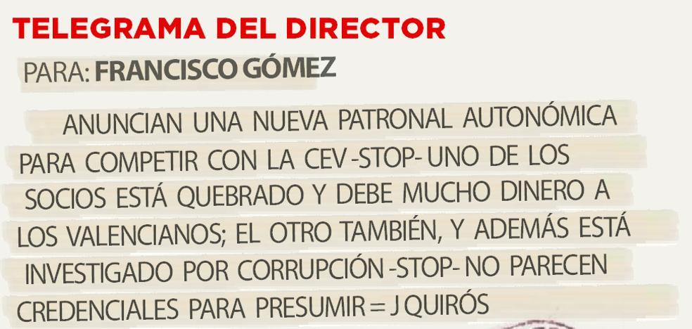 Telegrama para Francisco Gómez
