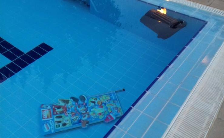 Fotos de los actos vandálicos en la piscina de Burjassot