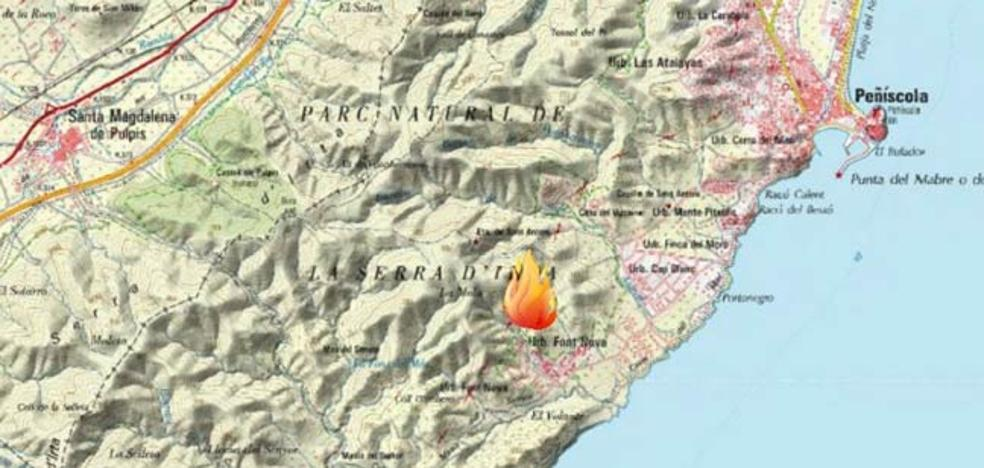 Declarado un incendio forestal en Peñíscola